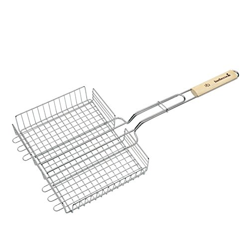 Barbecook Meerstandig Grille Double Réglable Argent 32 x 5 x 63 cm