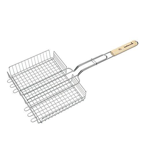barbecook Verstellbarer Grillrost Grillzubehör, grau, 32x5x63 cm -