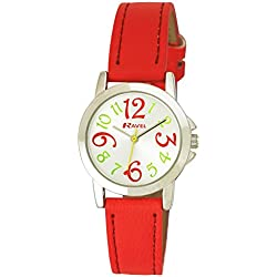 Ravel Funky Fashion Girl's Quartz Watch with Silver Dial Analogue Display and Orange Plastic Strap R0126.05.2