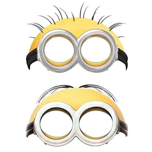 NEU Maske Minions aus Pappe, 6 (Maske Minion)