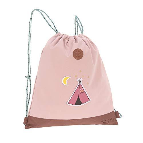 LÄSSIG Kinder Turnbeutel Junge Mädchen mit Kordelzug Rucksackfunktion Sportbeutel Schule Kindergarten / Mini String Bag, Adventure Tipi