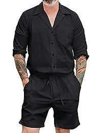 Juleya Camisa De Manga Larga De La Camisa De Los Hombres De - Mono Siamés - Blusa Respirable Cómoda Suave - Camisa Suelta De La… tglFn6