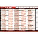 Tallon - Planificador 2019  A1, calendario de pared anual laminado con borrado en seco pen & adhesivo puntos, color diseño 1