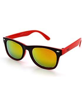 VertX gafas polarizadas ligero fuerte moda niños y niñas niños Retro Wayfarer gafas de sol con funda de microfibra