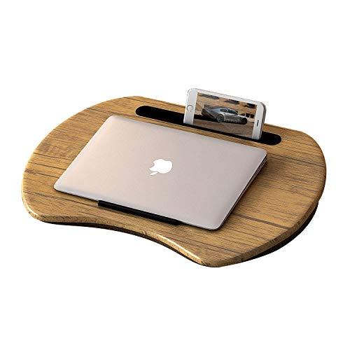 Home BI Laptop-Tisch mit Handy- und Tablet-Halterung, tragbar, für Laptops mit bis zu 38,1 cm (15 Zoll) braun -