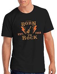 "Da Londra Mens Born To Rock, EST. 1968"" - 50th Birthday T Shirt Gift"