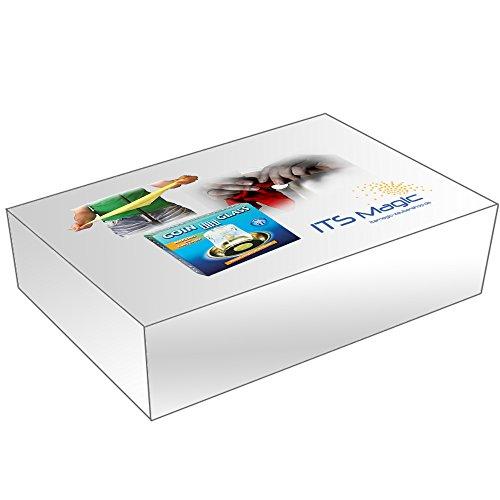Zauberkasten / Zauber Set: Tuch durch Mikrofon-Ständer + Münze durch Glas + Bonustrick, 3 Durchdringungs-Zaubertricks mit deutscher Anleitung für jedermann