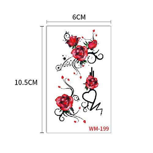 adgkitb Europäische und amerikanische Rosen schöne und schöne Tattoo Aufkleber WM199 6x10.5cm Mustangs Wc