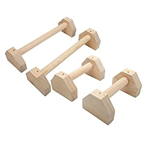 Easy-topbuy Liegestützgriffe Holz Handstand Klötze von Griff Push-up-Stäbe Handstand Barren Stretch-Ständer Single Double Bars Calisthenics Handstand Personalisierte Bars Holz Push-Ups Double Rod