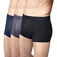Damensch Men's Micro Modal Trunk (Kentt Blue, Wayn Black, Blayze Grey, Large) - Pack of 3