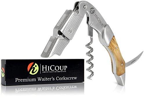 Kellnerkorkenzieher von HiCoup - Multifunktionaler Premium-Korkenzieher mit Palisanderholz,...