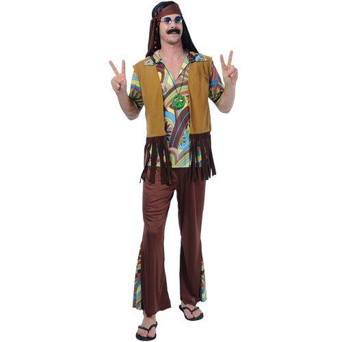GROOVY HIPPIE GUY ADULT COSTUME FANCY DRESS UP PARTY (Groovy Guy Kostüme)