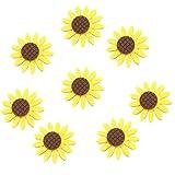 HEALIFTY 36Pcs Stoff Sunflower Vlies Daisy Kleidung
