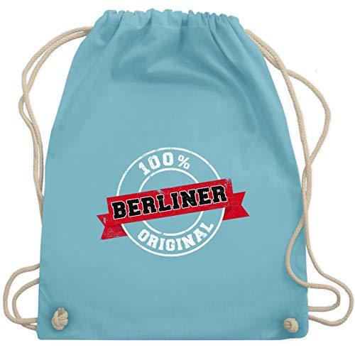 Städte - Berliner Original - Unisize - Hellblau - WM110 - Turnbeutel & Gym Bag