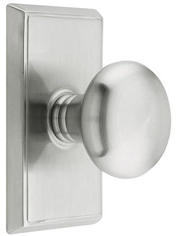 Providence Door Set With Round Brass Knobs Passage In Satin Nickel. Doorsets. by Emtek