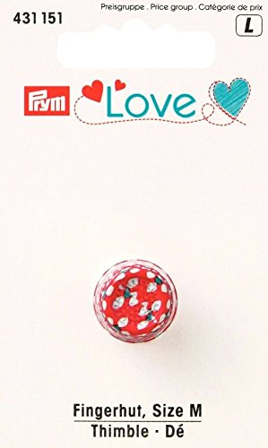 Prym Love Fingerhut, bemalt, Metall, Mehrfarbig, mittelgroß