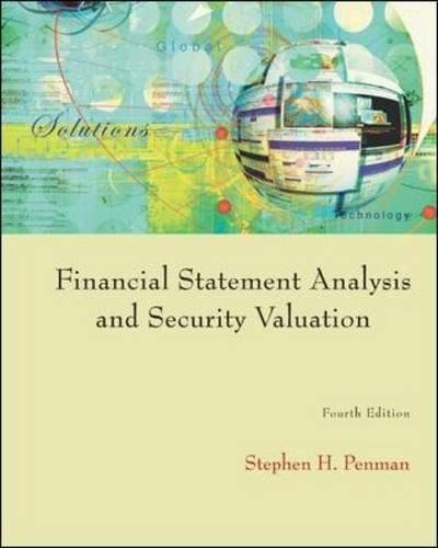 Financial Statement Analysis and Security Valuation por Stephen H Penman