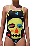 swimgo Skull Design maillot de bain d'entraînement pour filles, avec tête de mort, Taille L