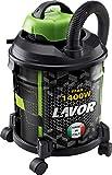 Lavorwash JOCKER 1400 S - Aspirapolvere (1400 W, Aspiratore a tamburo, Asciutto e umido, 20 L, 75 dB, Nero, Verde)