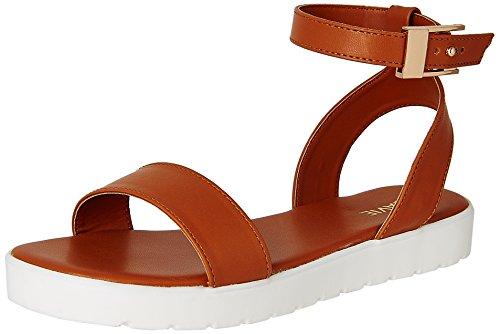 Lavie Women's 6930 Sling Back Tan Fashion Sandals - 6 UK/India (39 EU)