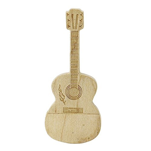 16GB Guitarra de madera modelo Pen unidad USB Flash Drive USB Flash disco memoria stick USB USB stick flash USB tarjeta de pulgar disco USB
