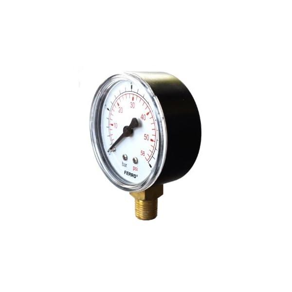 Ferro Industrial 63 mm hidráulico medidor de presión Trasera revisiones manómetro de 6 Bar 1/4″