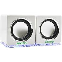 Incutex rainbow speaker, LED Boxen, PC Notebook Lautsprecher, Audio Boxen, portable speaker, tragbare Boxen, Weiß