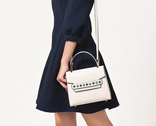 Kleine Quadratische Tasche Tag Tasche Messenger Bag Handtasche Schwarz