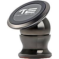 TechElec Soporte Movil Coche, Sostenedor Magnético de Teléfonos Móviles [Rotación de 360 grados] para Smartphone y Dispositivo GPS – Instalación en cualquier Superficie Plana