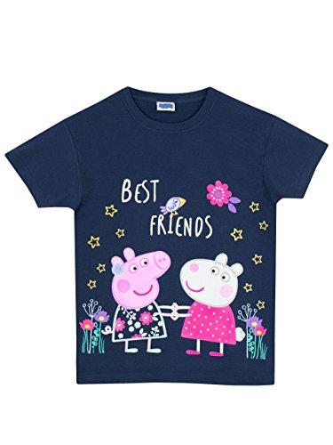 Peppa Pig - Camiseta para niñas - Peppa Pig - 3 - 4 Años - Azul Marino