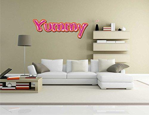 Wandtattoo Comic 043 – Lustiges Motiv Yummy – Wandaufkleber