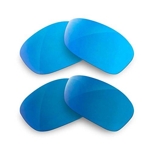 sunglasses restorer Kompatibel Ersatzgläser für Oakley Holbrook, Polarisierte Ice Blue + Blue Mirror Linsen