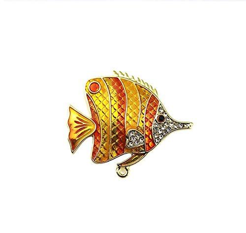 Cdet Brosche Blau Strass Tropischer Fisch Stil Weihnachten Geschenk Frauen Brosche/Herren Brosche Anzug Brooch/Urlaub Zubehör/Hochzeit Dekoration/Geburtstags Geschenk Pin,1 Stuck -