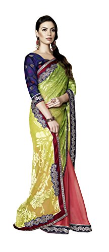 Mansi Sarees Art Crepe Saree in Multi Colour for Party Wear
