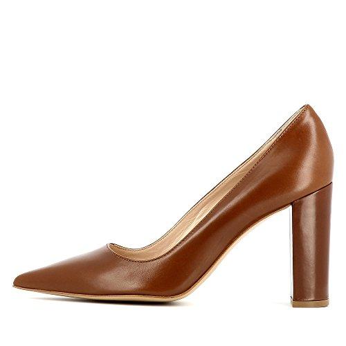 NATALIA escarpins femme cuir lisse Marron