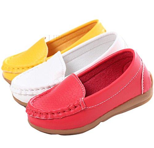 Gaorui Babyschuhe Kinder-Mokassin Krabbelschuhe Weiß Rot Gelb Slip-on Weiß