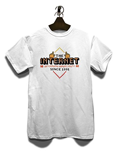 Internet Destroying Productivity T-Shirt Weiß