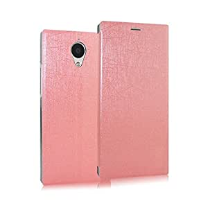 Heartly Premium Luxury PU Leather Flip Stand Back Case Cover For Gionee Elife E7 - Pink