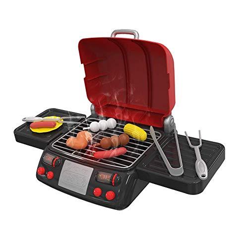 Tragbaren Holzkohle-grill Küche (Grill und Serve BBQ Set, Tragbare Grillen Rollenspiel Spiel-Set, Ungiftig Sicherheit Spaß-Spiel Sets für Jungen & Mädchen, Alter 3 Jahre+ - Rot, Free Size)