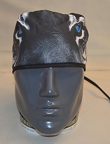 Cococover Bonnet bloc opératoire Bonnet chirurgical Motif yeux de tigre Cheveux courts