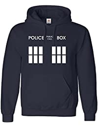 Inspired Police Box Hoodie in Adult Hooded Top All sizes, PLUS 1 T Shirt - Star & Stripes brand