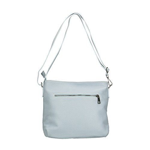 Frau Schultertasche in echtem Leder Made in Italy Chicca Borse 30x25x10 Cm Chicca Borse 3bPNIhyapD