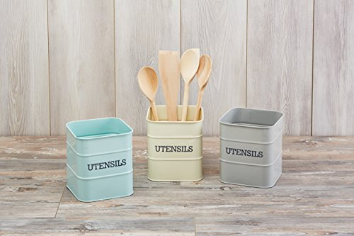 KitchenCraft Living Nostalgia Duck Egg Blue Utensil Holder