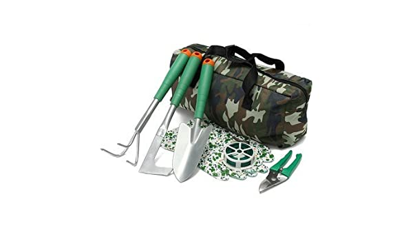 7Pcs Handheld Gardening Planting Tools Set With Carry Bag For Garden Yard Lawn