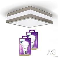 LED Deckenleuchte Bad-Lampe Aussen-Leuchte PROVANCE E27 230V IP44 LED Lampe Wandleuchte Au/ßenleuchte Wandstrahler LED Leuchte Aussenbeleuchtung Wohnzimmerlampe f/ür Badezimmer K/üche Flur Eckig