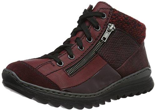 Rieker Damen M6243 High-Top Sneakers Rot (pomerol/vino/bordeaux/bordeaux/vinaccia/rot-schwar / 35)