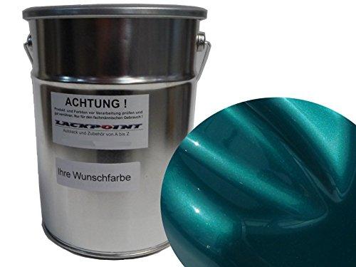 Lackpoint 1 Liter Spritzfertig Wasserbasislack Candy Türkis Metallic Autolack -
