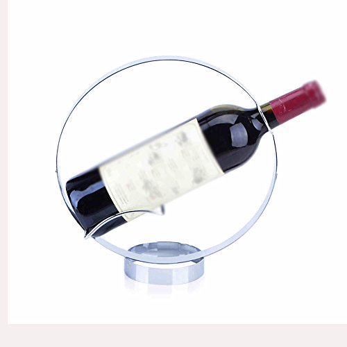 Weinregale MEIDUO Wein-Racks Runde Metall Eisen Beschichtung Silber Kreativ Newfangled Bar um irgendeinen Raum zu komplimentieren -