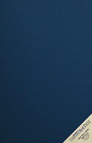 15Dark Navy Blue Linen Papier 80# Abdeckung Blatt-30,5x 45,7cm (30,5x 45,7cm) large poster Größe-80Lb/Pfund Karte Gewicht-Feine Leinen Texturierte Finish-Deep Dye Qualität Karton (Druckbare Farbe Blätter)