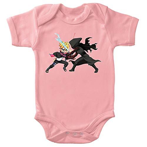 Body bébé (Filles) Rose Boruto - Star Wars parodique Boruto Vs Kylo Ren : Ninja High Tech Vs Samurai de l'espace (Parodie Boruto - Star Wars)